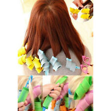 18Pcs Hair Curlers Twist Spiral Circle Ringlets Magic Rollers Styling DIY Set