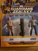 Hasbro Guardians Of The Galaxy Drax & Korath With Battle Gear Figures 1043V