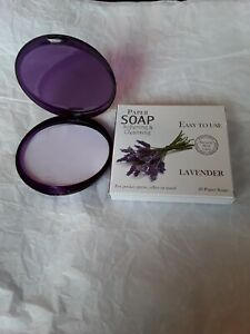 20 Lavender Soap Leaves In A Compact