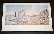 """Michael Blaser Limited Edition Print """"Cincinnati Public Landing 1875"""" Tallstacks"""