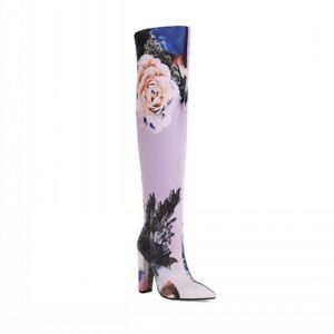 Women's Over Knee Boots Pointy Toe Block Heel High Slouch Party Nightclub ethnic