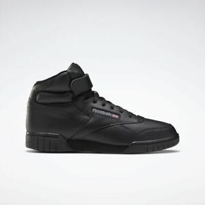 *New* Reebok Men's Classic EX-O-FIT HI Shoes Triple Black Retro OG Strap 3478