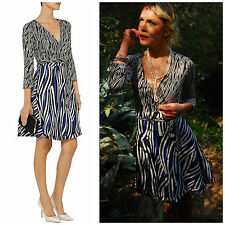 "NWT $485 Diane Von Furstenberg DVF ""Amelia"" Wrap Dress 8"