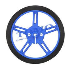 1 Coppia ruote POLOLU azzurre 80mm Robot Robotica Arduino Pic c Pololu 1433