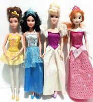 Lot Of 4 Fairytale Disney Princess Barbie Dolls BELLE SNOW WHITE ANNA CINDERELLA