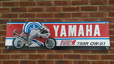 BR23 YAMAHA classic Superbike Banner FZR750R OW01 YZF750 Garage Officina Segno