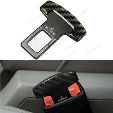 1Pcs Real Carbon Fiber Seat Belt Buckle Alarm Stopper Null Insert Fit For Audi