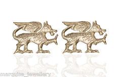 925 Sterling Silver Dragon Cufflinks. Cuff links.