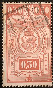 Stamp Belgium SGP913 1941 0.30Fr Railway Stamp Used