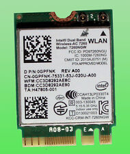 Intel Dual Band Wireless- AC7260 Model 7260NGW  867Mbps Bluetooth4.0 M.2  0GPFNK