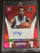 2014-15 Select Prizm Rookie Autographs Prizms Red Andrew Wiggins RC Auto 022/199