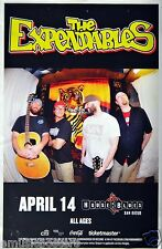 The Expendables 2014 San Diego Concert Tour Poster - Fish-Eyed Lens Shot Of Band