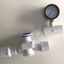 Low Pressure Regulator + Gauge For Chicken Nipples & Chicken Cups Water System