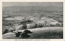 Skyline Drive VA * Valley View 1951 * Shenandoah National Park * Graycraft Card