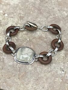 Barse Natural Arts Toggle Bracelet- Ireng Wood & African Opal - NWT