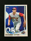 BRANDON NIMMO ROOKIE TOPPS 2013 NEW YORK METS RC BASEBALL CARD. rookie card picture