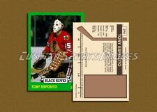 Tony Esposito - Chicago Black Hawks - Custom Hockey Card  - 1972-73