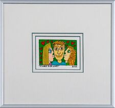 James Rizzi  It is nice to be loved - Farblithografie gerahmtes Bild
