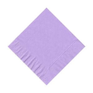 50 Plain Solid Colors Beverage Cocktail Napkins Paper - Lavender
