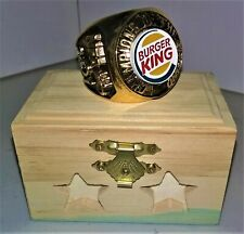 """2001 NFA gold-plated Ring awarded to NY Burger King """"Champions of the Brand"""""""