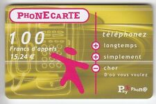 FRANCE  TELECARTE / PHONECARD  PREPAYEE .. 100F PAYPHONE CABINE 12/02 MAGNETIQUE