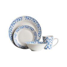 Blue Rose 16pc Dinner Set Plates Mugs Bowls Porcelain Service Dining Set