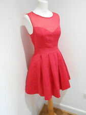 Spotlight by Warehouse red chiffon top A line skater party event dress 10 VGC