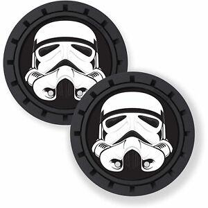 Plasticolor Star Wars Stormtrooper Car Coaster, 2x Cupholder Coasters