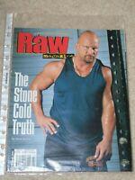 WWE MAGAZINE RAW FEBRUARY 2003 WRESTLING STONE COLD STEVE AUSTIN COVER WWF
