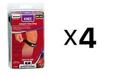 Mueller Sports Runner's Jumper's Knee Strap Patella Support Brace Black (4-Pack)