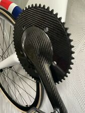 Custom carbon FSA Vision Aero Track Chainset Crankset Fibre-Lyte Chainring 170mm