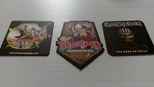 iron maiden collection of 3 beer mats new mint