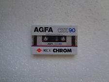 Vintage Audio cassette AGFA CRX 90 * Rare From 1985 *