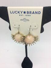 $35  Lucky Brand gold tone stone sunburst drop earrings 376A