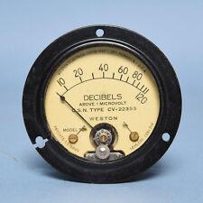 Vintage Weston Decibel Panel Meter