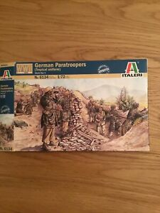 Italeri Ww2 German Paratroopers (tropical Uniform) 1:72 No 6134