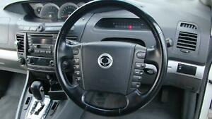SSANGYONG STAVIC BLACK LEATHER STEERING WHEEL A100, 03/05-12/12