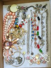 Vintage Jewelry Lot Bracelets Necklaces Brooches & more (629B)