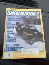 Dec 1986 snowmobile Magazine  Ski Doo Yamaha Arctic Cat Cougar Polaris