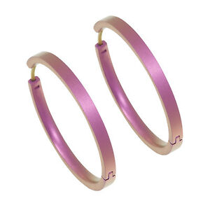 Titanium Candy Pink Large Full Hoop Earring