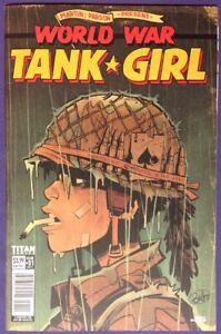 WORLD WAR TANK GIRL 1 May 2017 9.2-9.4 NM-/NM TITAN COMICS - BRETT PARSON COVER!