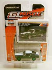 1967 '67 FORD MUSTANG GREEN MACHINE CHASE CAR DIECAST GL MUSCLE R17 GREENLIGHT