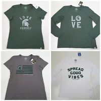 Life Is Good Michigan State Spartans Women's T Shirts Multiple Styles/Sizes
