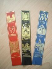 COLLECTION OF LEATHER BOOKMARKS - CATHEDRALS