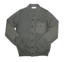 Brunello Cucinelli Green 100% Cotton Button Down Sweater IT 54 US 44 XL NEW