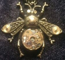 Bumble Bee Pendant Steampunk Jewellery Necklace Authentic Watch Parts Ladies