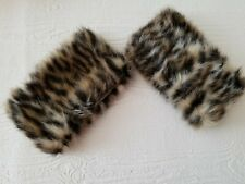 Animal Print Faux Fur Cuffs (from INC International Concepts Jacket Small)