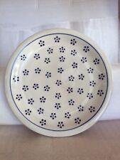 Original Bunzlauer Keramik flacher Teller (Pizzateller) D27,2 cm im Dekor 1