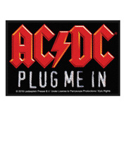 AC/DC - PLUG ME IN - WOVEN PATCH - BRAND NEW - MUSIC 3072