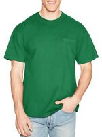 Hanes Men's Premium Beefy-T Short Sleeve T-Shirt With Pocket, Up to  XL